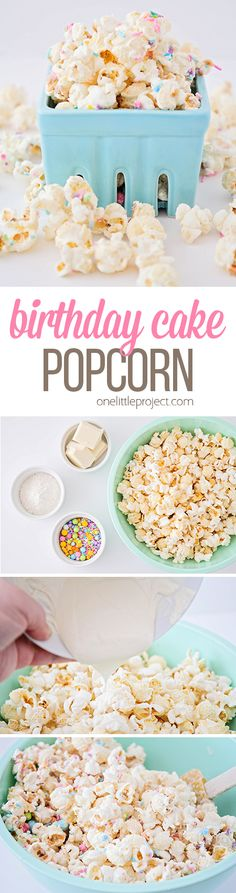 This Delicious And Fun Birthday Cake Popcorn Has Only Four Ingredients A Sweet