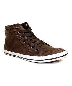 Love this Brown Lace-Up Hi-Top Sneaker by ARider on #zulily! #zulilyfinds