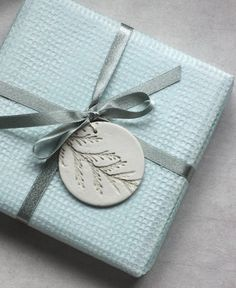 Plant Embossed Gift Tag