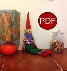 elf pattern doll pattern to sew soft doll by NatashaArtDolls