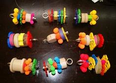 Homemade Bolt Foot Toys. Visit site and follow link to see instructions on how to make these.