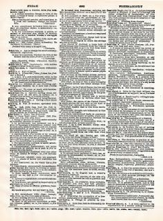 Free dictionary pages from The Vintage Moth