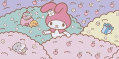 """concepcion pujazon gonzalez picked """"Hide 'n Seek"""" from tinkevidia on My Melody Wallpaper, Sanrio Wallpaper, Hello Kitty Wallpaper, Iphone Background Wallpaper, Wallpaper Pc, Computer Wallpaper, Pinterest Cute, Melody Hello Kitty, Cute Camera"""