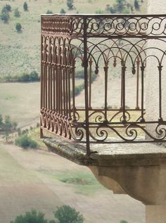 Spanish wrought iron balcony