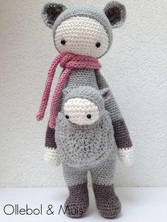 Crochet kangoeroe with child SOLD