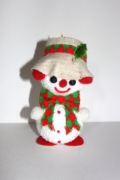 Vintage 1970s CHRISTMAS SNOWMAN Decor by PeppermintandCocoa, $5.00