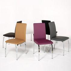Chaise design Dara Vintage en métal chromé  - 1
