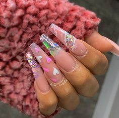 Amazing Spring And Winter Nail Designs Ideas - StarMyFashion Perfect Nails, Gorgeous Nails, Pretty Nails, Perfect Makeup, Finger, Fire Nails, Luxury Nails, Heart Nails, Best Acrylic Nails