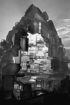 Hexahedron housing city model in close-up | Paolo Soleri | Photo: Bob Peterson/Time & Life Pictures/Getty Image