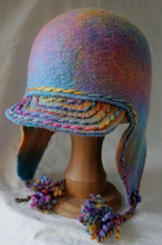 Madetoorder earflap felt hat  DuckBilled Hattypus by HeavenlyWools, $45.95