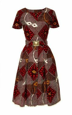 Togo Dress In Red Dahlia Print by Lena Hoschek ~Latest African fashion, Ankara, kitenge, African wom African Dresses For Women, African Print Dresses, African Fashion Dresses, African Attire, African Wear, African Women, African Prints, African Outfits, African Style