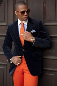 Unique orange look - for the groomsmen maybe? Or non-traditional groom