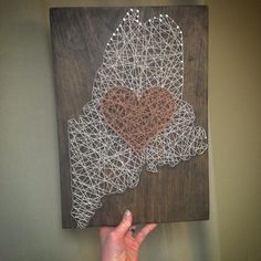 Just added another #maine board to @campfiregrille tonight. These have been one of our best sellers and can come in any color   #mainer #mainefarms #igersmaine #heart #home #stringart #newengland #mainelove #mainelife #mainewedding #mainewoods #vacation #vacationland #handmade #farms #elegant #wallart #gift #colors #color #rainbow #tan #cool #naturalmaine #etsy