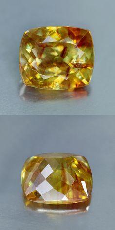 Sphalerite 181106: Sunshine Golden Yellow Hue_8.41 Cts_Cushion Cut_Spain Rare_Sphalerite_Bc2308 -> BUY IT NOW ONLY: $229.99 on eBay!