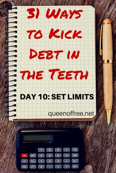 Great tips for how setting limits can help you kill debt this year. Personal finance does not have to be complicated and you can win with money!