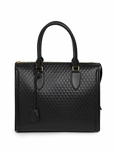 Alexander McQueen - Pyramid Quilted Leather Tote - Saks.com