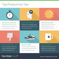 #FridayFeeling - Top Tips for #Productivity you can apply to boost your work week!