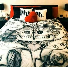 Day of the dead bed set ❤