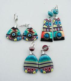 Polymer clay earrings by Malospazos.