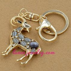 Unique goat model decoration key chain