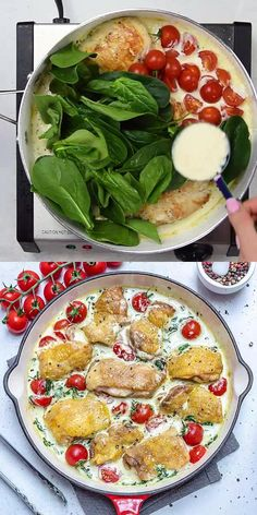 Creamy Italian Chicken, Italian Chicken Recipes, Easy Chicken Dinner Recipes, Recipes Dinner, Dinner Ideas, Chicken Thigh Recipes, Dessert Recipes, Diet Recipes, Cooking Recipes