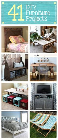 Diy Crafts Ideas : 41 DIY Furniture Projects Build your own furniture from scratch #crafts #diy
