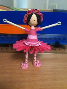This is the first ballerina that I made. She's quite a bit bigger than my other ballerina