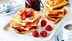 Rahkapannari - K-ruoka Candy Cookies, Something Sweet, Salad Recipes, Pancakes, Baking, Breakfast, Ethnic Recipes, Desserts, Food