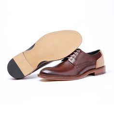 Men Retro Brogue British Style Pointed Toe Wedding Dress Casual Derby Shoes