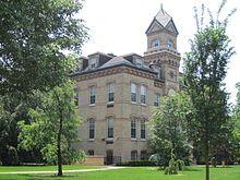Old Main at Elmhurst College.