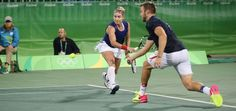 Bethanie Mattek Sands (that skirt, girl!) and Jack Sock, at the Olympic Tennis Event - Rio 2016 #matteksands #bethaniematteksands #jacksock #olympictennis #olympics2016