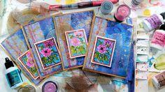 Shimmer Shine Messy Background with Brusho & Color Burst!