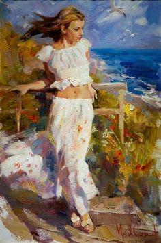 Michael and Inessa Garmash - Ocean Breeze - Original Painting