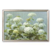 Art.com White Hydrangea Garden Framed Art Print by Danhui Nai