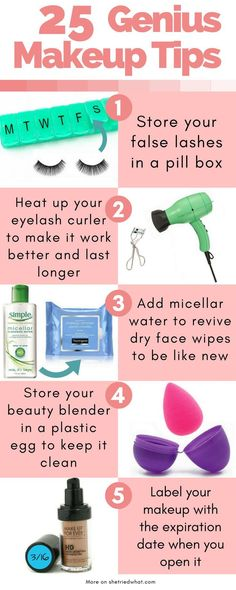 Why didn't I think of these? These makeup tips are so smart & easy! I can't wait to try them all. Seriously, every girl should know these makeup hacks.