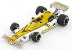 Model of the ill fated Swiss Apollon Cosworth F1 (Williams FW03 based) as raced in 1977 by Loris Kessel