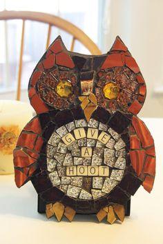 GiveAHoot Mosaic Owl by SecondLookMosaics on Etsy, $29.99