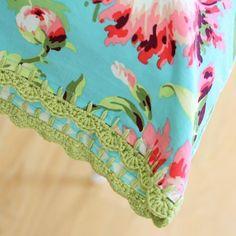 Crochet Pillowcase Edging Pattern Tutorial