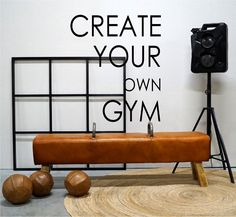 Vintage gym Create Yourself, Create Your Own, Gym Equipment, Chair, Interior, Vintage, Furniture, Home Decor, Sports