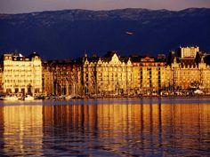 Lake Geneva in Geneva, Switzerland..beautiful! Love being in Switzerland with my dear cousins!!