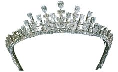 Van Cleef & Arpels diamond tiara that Princess Grace wore at the wedding of her daughter Caroline to Philippe Jugnot in 1978. Platinum set with pear-shaped diamonds, marquise-shaped diamonds and round diamonds, weighing 77.34 carats. Today this tiara is in Van Cleef & Arpels' Private Collection.