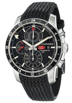 Chopard 168550-3001 RBK Watches,Men's Miglia GMT Black Dial Black Rubber, Men's Chopard Automatic Watches