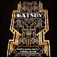 Sorority Apparel | Kappa Alpha Theta | Great Gatsby formal