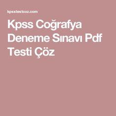 Kpss Coğrafya Deneme Sınavı Pdf Testi Çöz