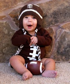 Adorable Football Outfit for Baby.