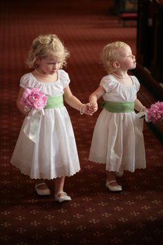 I like these flower girl dresses