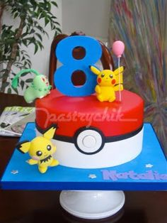 When Pokemon was first introduced in the I recall it to be such a hit to youngsters as my my nephews and nieces were fanatics. Bolo Pikachu, Pikachu Cake, Pokemon Birthday Cake, Pokemon Party, Pokemon Cakes, Pokemon Pokemon, Birthday Cakes, 6th Birthday Parties, 8th Birthday