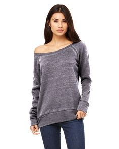 REBEL CRICKET - 7501 Bella + Canvas Ladies' Sponge Fleece Wide Neck Sweatshirt