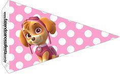 Bandeirinha Sanduiche Patrulha Canina para Meninas 2