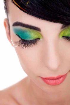 Spring colors eye makeup